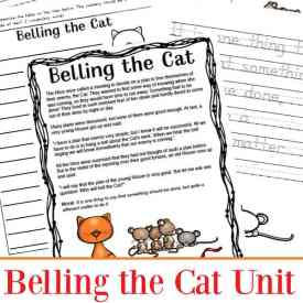Aesop Fables Worksheets Packet: Belling the Cat Printables