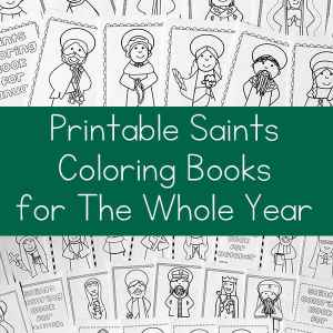 Saints Coloring Books for the Whole Year