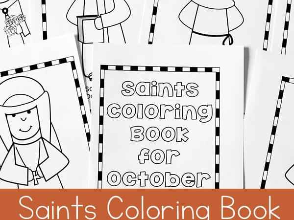 Printable Saints Coloring Book for October