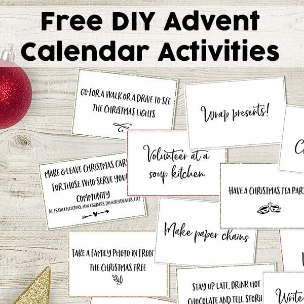 Free Diy Advent Calendar Activities 60 Fun Advent Activity Cards