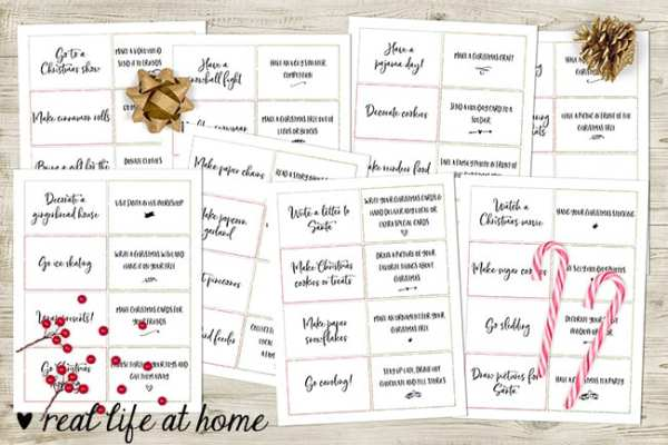 60 Advent activities for families - printable card set | Real Life at Home