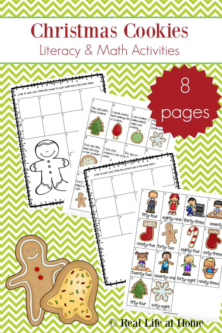 medium resolution of Christmas Language Arts Worksheets Packet for 1st - 3rd Grade