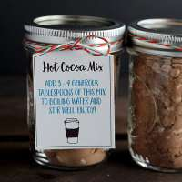 Hot Chocolate in a Jar Mix Recipe and Free Printable Tags