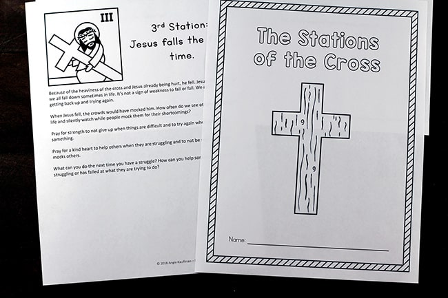 graphic about Stations of the Cross Prayers Printable identified as Printable Stations of the Cross for Small children (Booklet and