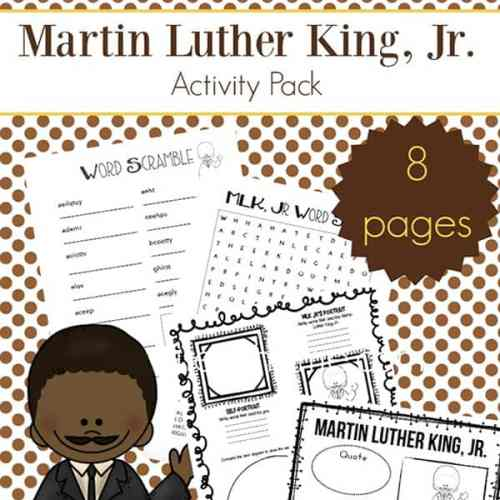 Need a supplement for teaching about Dr. Martin Luther King Jr.? In this post, you'll receive a free printable eight page Martin Luther King Jr. worksheets packet which includes items such as a Martin Luther King Jr. word search, MLK word scramble, and more.