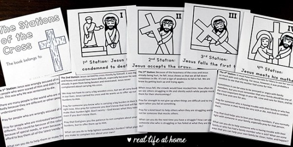 Declarative image pertaining to stations of the cross for youth printable