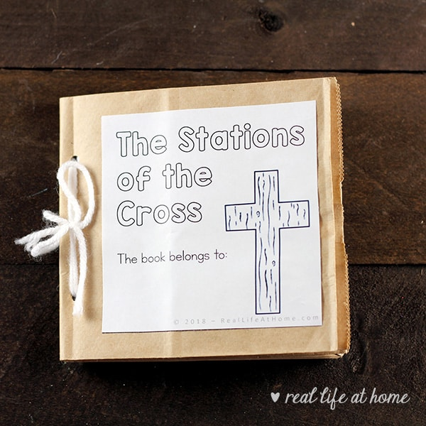 Stations of the Cross Paper Bag Book for Kids