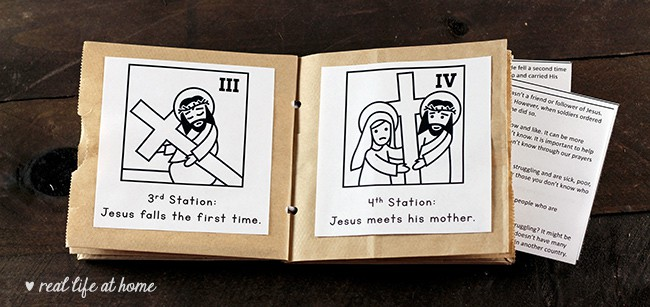 This is a picture of Stations of the Cross for Youth Printable in scriptural