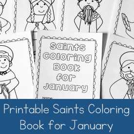 Printable Saints Coloring Book for January