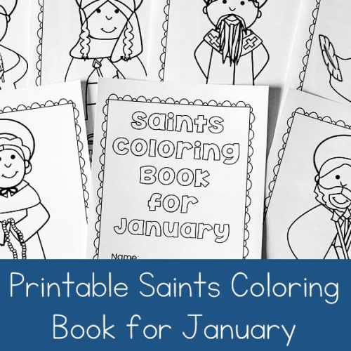 January Saints: Printable Saints Coloring Book for January