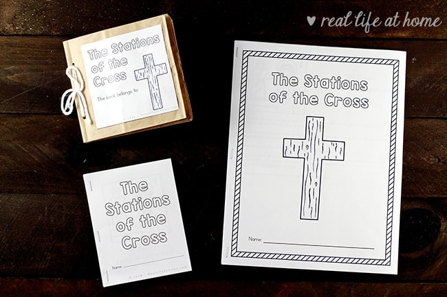 graphic relating to Stations of the Cross Prayers Printable named Printable Stations of the Cross for Young children (Booklet and