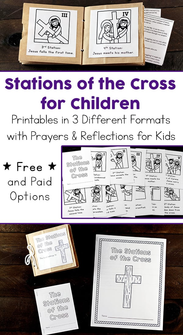 graphic regarding Printable Stations of the Cross identified as Printable Stations of the Cross for Little ones (Booklet and