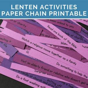 Free Lenten Printable with Lent Ideas and Activities for Your Family. This includes activities to add for Lent and things to give up for Lent. This is a wonderful way to encourage your family in their Lenten observance.