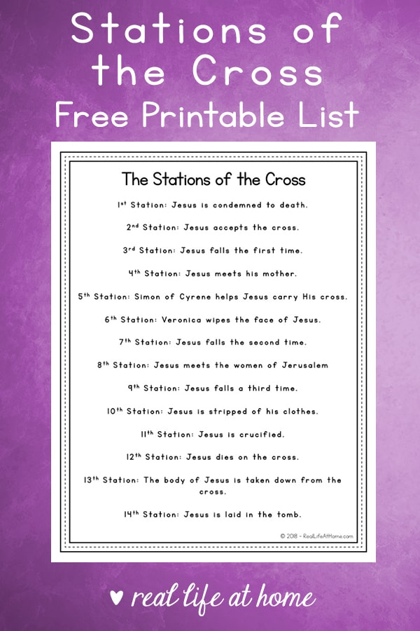 image about Stations of the Cross Printable titled 14 Stations of the Cross Listing - Absolutely free Easy Lenten
