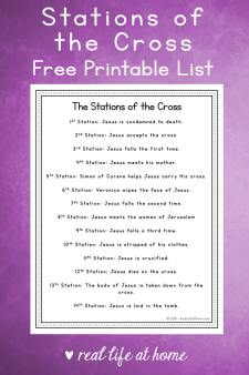 14 Stations of the Cross List
