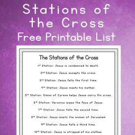 14 Stations of the Cross List – Free Simple Lenten Reflection Printable