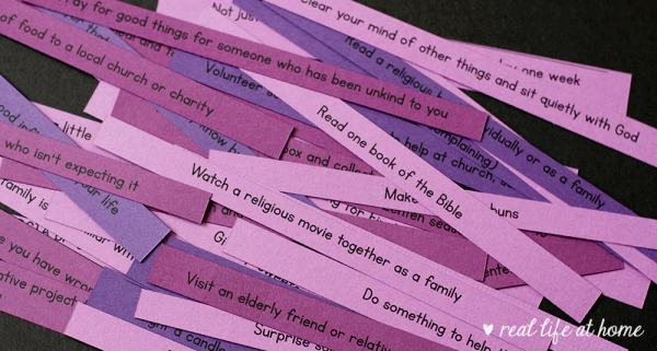 Lent Printables with Activities to Add and Things to Give Up for Lent
