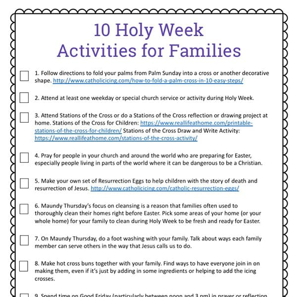photo relating to Resurrection Egg Story Printable named Holy 7 days for Youngsters: 10 Holy 7 days Actions Cost-free Printable