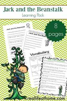 Jack and the Beanstalk Learning Packet