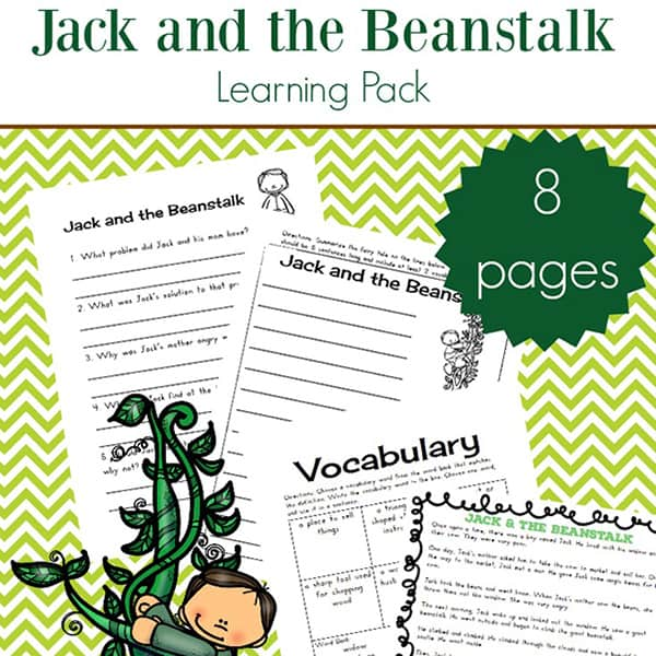 Jack And The Beanstalk Worksheets And Printables Packet