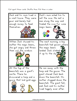 photo regarding Jack and the Beanstalk Printable named Jack and the Beanstalk Worksheets and Printables Packet for Little ones