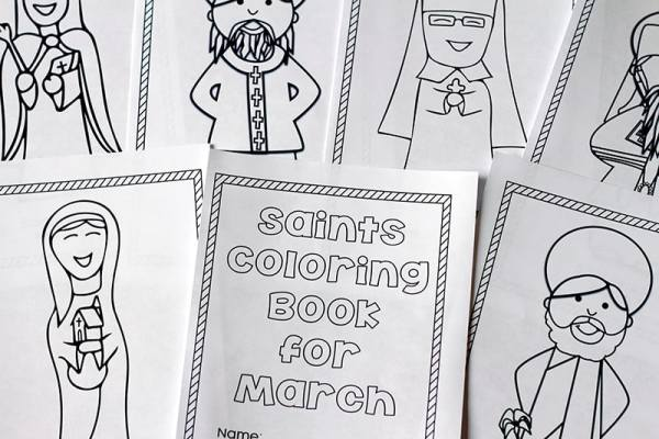 Free Printable Saints Coloring Book For March Perfect Coloring