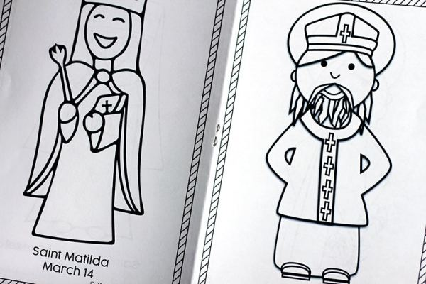Free Printable March Saints Coloring Book for Catholic Kids