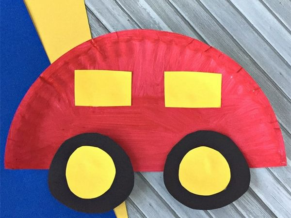 Easy Paper Plate Car Craft for Kids