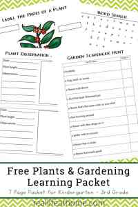 Free Plants and Gardening Learning Packet