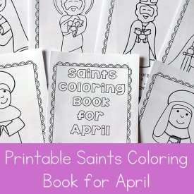 Free Printable Saints Coloring Book for April