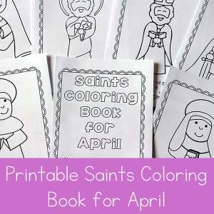Free Printable Saints Coloring Book for April - Coloring Activity ...