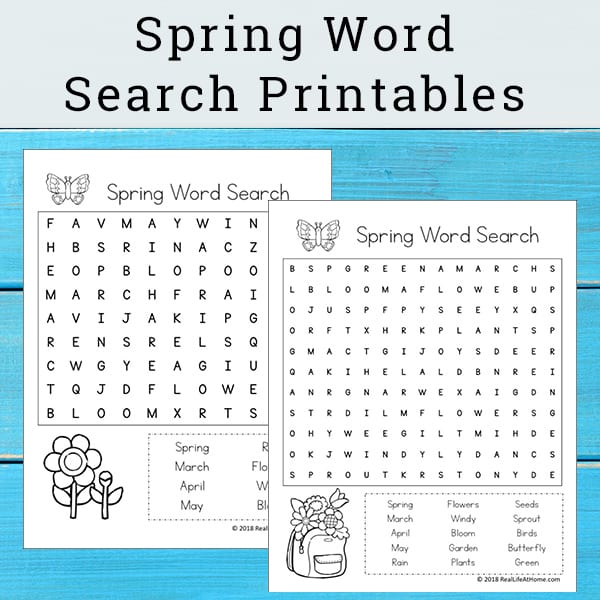graphic about Printable Spring Word Searches named Cost-free Printable: Spring Phrase Glimpse Printable Puzzle for Little ones