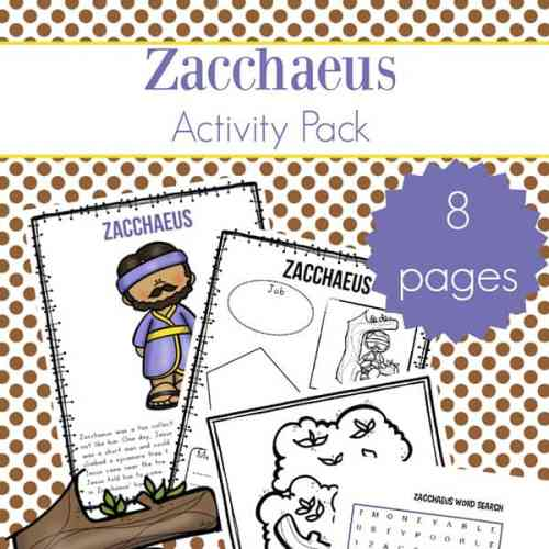 Zacchaeus Printables Packet including Zacchaeus Story for Kids, Zacchaeus Coloring Page, and More   Real Life at Home