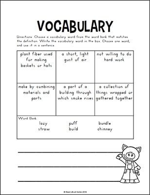 photograph about Three Little Pigs Printable identify A few Very little Pigs Worksheets and Routines Packet for