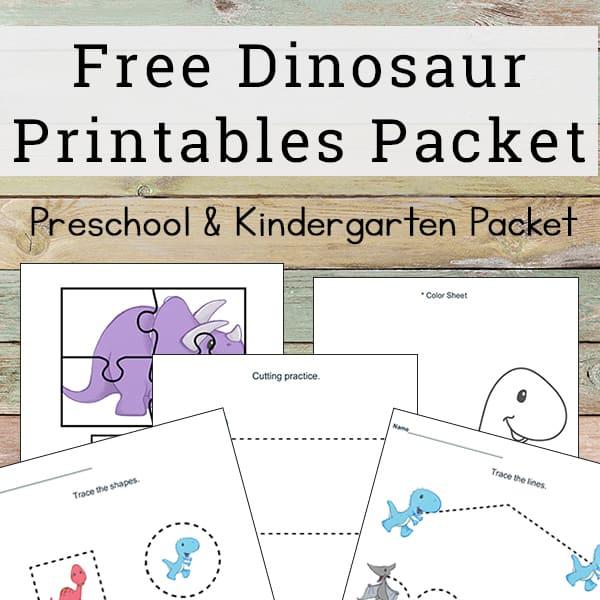 Dinosaur Printables for Preschoolers (Free Dinosaur Worksheets Packet)