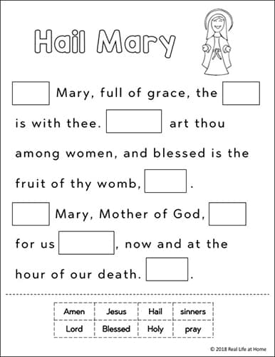 photograph relating to Hail Holy Queen Prayer Printable identify Minimize and Paste Hail Mary Prayer Printable Absolutely free Worksheets