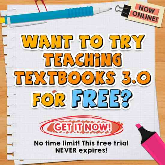 Free trial offer for Teaching Textbooks 3.0