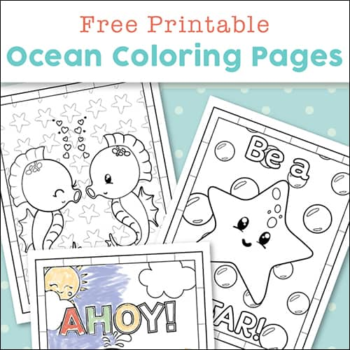 Super Cute Ocean Coloring Pages for Kids {Free Printables}