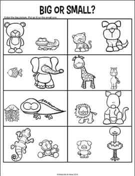 Opposites Worksheets for Kindergarten and Preschool ...