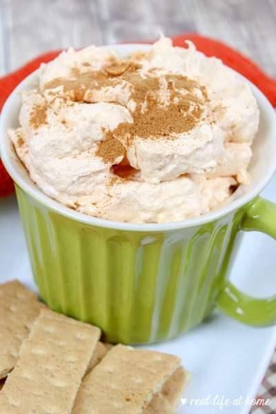 Pumpkin Cheesecake Dip (or Pumpkin Fluff Dip) Recipe from Real Life at Home