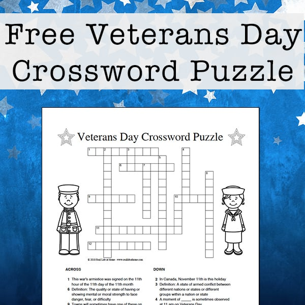 photo regarding Kids Crossword Puzzle Printable identify Veterans Working day Crossword Puzzle Free of charge Printable for Little ones