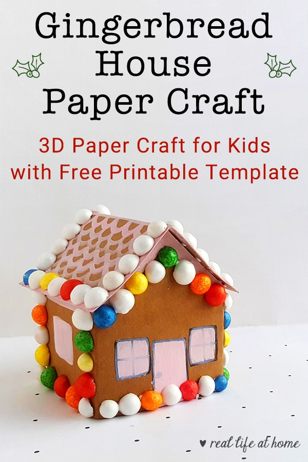 This is a graphic of Gingerbread House Printable intended for blank