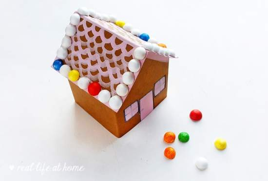 Directions for Gingerbread House Paper Craft Project: Decorate Your Gingerbread House - Real Life at Home