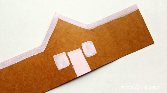 Gingerbread Craft Step 3 from Real Life at Home