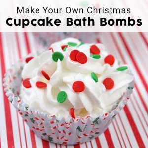 Cupcake Bath Bombs for Christmas (can modify for any time of year)