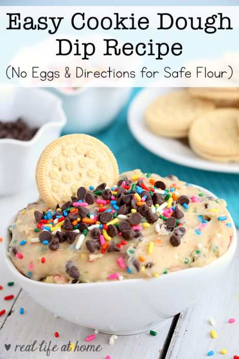 Need a dessert dip for a party or just for a fun snack for at home? You'll find an easy recipe for Cookie Dough Dip that contains no eggs. There are also directions for toasting flour.