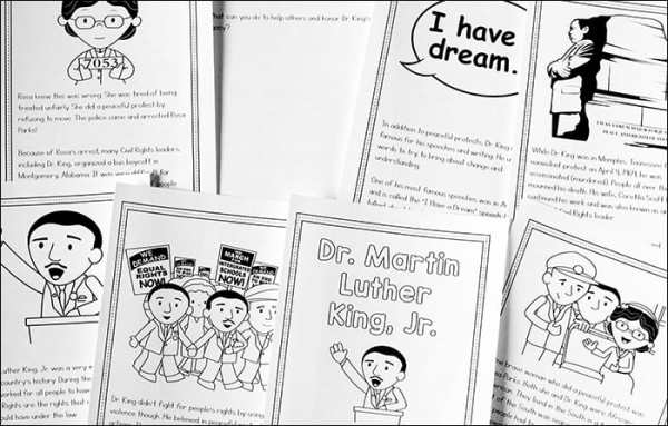 Free Dr. Martin Luther King Jr. Printable Book for Children from Real Life at Home