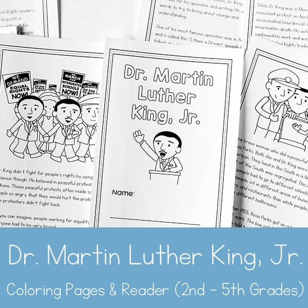 Dr Martin Luther King Jr Printable Book For 2nd 5th Grade