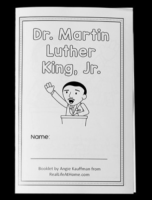 Free MLK Coloring Book and Reader Printable from Real Life at Home