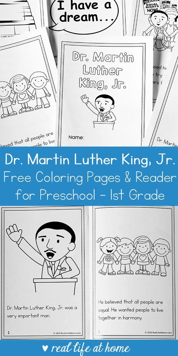 Martin Luther King Jr Coloring Sheet